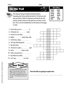 On the Trail Worksheet