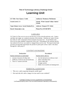 Once Upon a Castle Lesson Plan