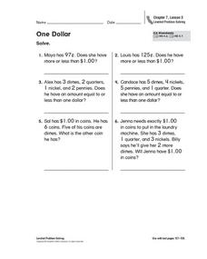 One Dollar Worksheet
