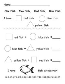 One Fish, Two Fish, Red Fish, Blue Fish Worksheet