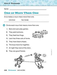 One or More Than One Worksheet
