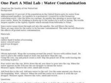 One Part A Mini Lab: Water Contamination Lesson Plan