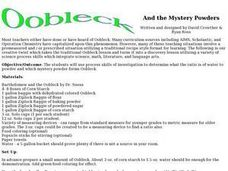 Oobleck and the Mystery Powders Lesson Plan
