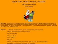 "Open Wide at the Dentist, ""Aaaahh"" Lesson Plan"