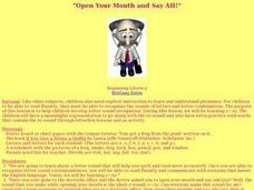 """Open Your Mouth and Say AH!"" Lesson Plan"