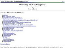 Operating Kitchen Equipment Lesson Plan