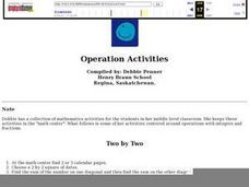 Operations Activities Lesson Plan