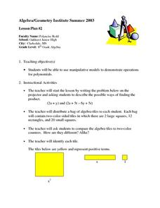 Operations For Polynomials Lesson Plan