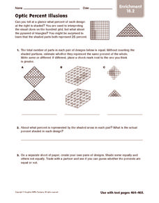 Optic Percent Illusions: Enrichment Worksheet