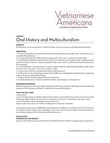 Oral History and Multiculturalism Lesson Plan
