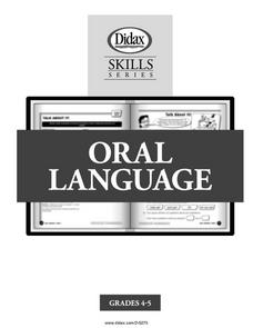 Oral Language Lesson Plan