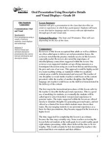 Oral Presentation Using-Descripitive Details and Visual Displays Lesson Plan