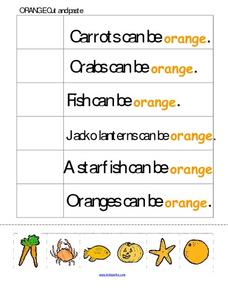 Orange Cut And Paste Worksheet