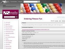 Ordering Fitness Fun Lesson Plan