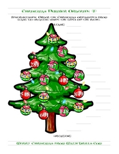 Ordering Numbers to 1000 (I)- Christmas Tree Worksheet
