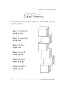 Ordinal Numbers 3 Worksheet