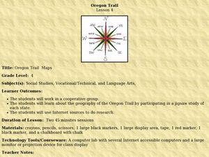 Oregon Trail  Maps Lesson Plan