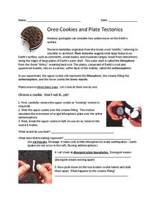 oreo cookies and plate tectonics 5th 8th grade worksheet lesson planet. Black Bedroom Furniture Sets. Home Design Ideas
