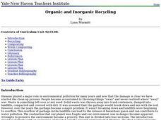 Organic and Inorganic Recycling Lesson Plan