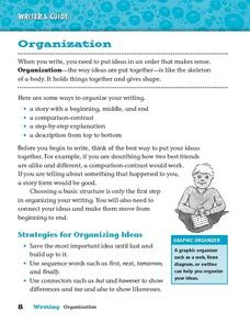 Organization (In Writing) Worksheet