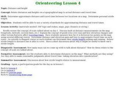 Orienteering - Lesson 4 - Distance and Height Lesson Plan