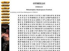 Othello: Word Search Worksheet