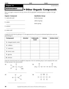 Other Organic Compounds Worksheet