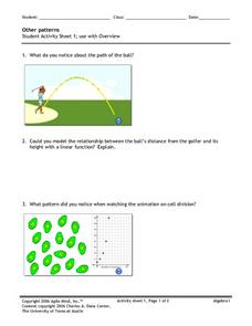 Other Patterns 1 Worksheet