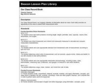 Our Class Record Book Lesson Plan