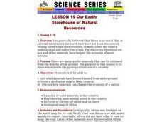 Our Earth: Storehouse of Natural Resources Lesson Plan