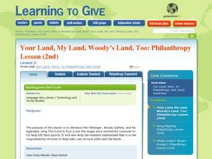 Our Land: League Philanthropy Unit Lesson Plan