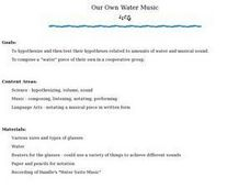 Our Own Water Music Lesson Plan
