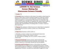 Our Science Corner: Making Our Classrooms Science Friendly Lesson Plan