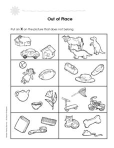 Out of Place Worksheet