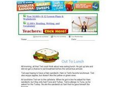 Out to Lunch - Reading Comprehension Worksheet