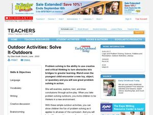 Outdoor Activities: Solve It-Outdoors Lesson Plan