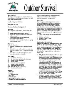 Outdoor Survival Lesson Plan