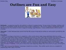 Outlines are Fun and Easy Lesson Plan