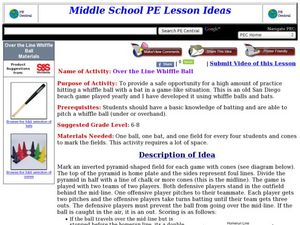Over the Line Whiffle Ball Lesson Plan