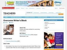 Overcome Writer's Block Lesson Plan