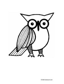 Owl Coloring Pattern Worksheet