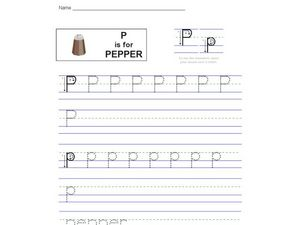 P is for Pepper Worksheet