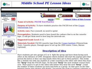 PACER Test Practice Lesson Plan