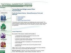 Pacific Northwest History - Natural Resources, Ports and Railroads Lesson Plan