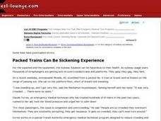 Packed Trains Can Be Sickening Experience Worksheet