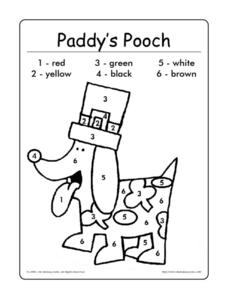 Paddy's Pooch Worksheet