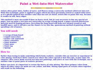 Paint a Wet-Into-Wet Watercolor Lesson Plan