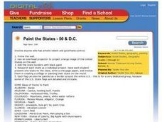 Paint the States - 50 & D.C. Lesson Plan