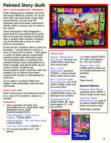 Painted Story Quilt Lesson Plan