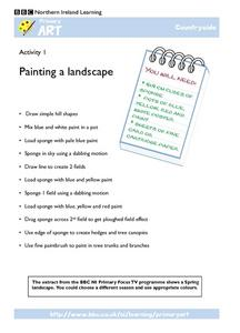 Painting a Landscape Worksheet